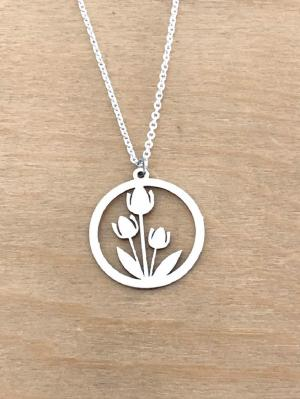Collier en Argent 925 - Tulipes